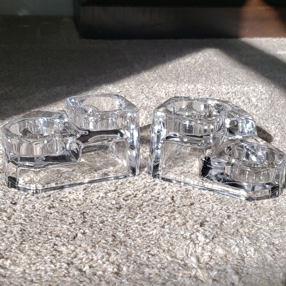 PartyLite Lead Crystal Tealight Candle Holder